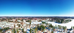 Snow Salem Panorama (Phiery Phoenix Photography) Tags: phiery phoenix phieryphoenix phieryphoenixphotography photography dj djispark spark drone drones uas suas small unmanned aircraft aerial system new newhampshire hampshire england salem nh town airspace air sky residence residential pond frozen ice house home homes tree trees winter wintertime