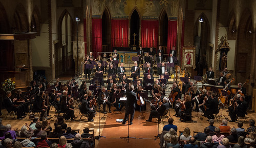 DSCN0128c Ealing Symphony Orchestra. Leader Peter Nall. Conductor John Gibbons. Rachmaninov Isle of the Dead 15th February 2020