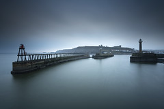 Whitby Entrance (Richard Paterson) Tags: long exposure whitby harbour dawn sea calm north yorkshire