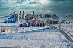 Archive 28 (guysamsonphoto) Tags: guysamson landscape paysage snow neige winter hiver froid cold farm ferme clouds nuages