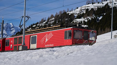 Matterhorn Train (ivoräber) Tags: matterhorn train sony switzerland red alps systemkamera swiss schweiz suisse snow glacierexpress glacier stmoritz zermatt