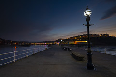 Whitby Promenade (Richard Paterson) Tags: long exposure whitby promenade lights blue hour sunset north yorkshire