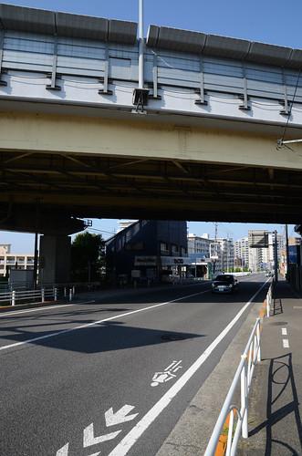Koshu-kaido under Chuo Expressway in Hino 3