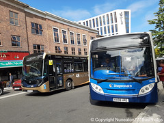 SN67XDF 26213 & KX08HRE 39697 Stagecoach Midlands in Coventry (Nuneaton777 Bus Photos) Tags: stagecoach midlands gold adl enviro 200mmc sn67xdf 26213 man 200 kx08hre 39697 coventry