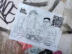NYC 2019 (bella.m) Tags: graffiti streetart urbanart nyc ny newyork usa art wheatpaste pasteup stickers babyandthetrump ladyandthetramp donaldtrump trump fucktrump kimjongun