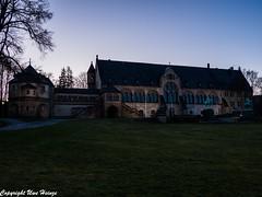 Kaiserpfalz Goslar bei Abenddämmerung 022020 01 (U. Heinze) Tags: harz niedersachsen germany deutschland norddeutschland olympus omd em1markii 12100mm himmel sky architektur gebäude