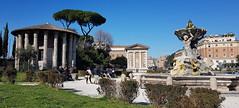 Tempio di Ercole Vincitore (collage42 -Pia-Vittoria) Tags: italia italy roma rome tempio temple fontana fountain fuente templo piazza square plaza street