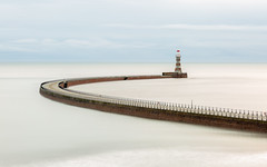 Roker Pier in soft light (simpletones) Tags: roker pier lighthouse sunderland long exposure lee stopper
