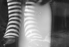 (Gabriella Ollandini) Tags: woman lady mature blackandwhite bwfp analog analogue analogica experimental portrait self dream dreamy monochrome monobath cinematic cinestill lomography glamour retro vintage blur soft yashica fx2 35mm filmisnotdead filmphotography film feminine filmcamera fashion istillshootfilm stripes shoes legs feet stockings