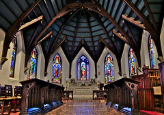 Faribault Episcopal Cathedral (ElectroClown) Tags: faribault cathedral church churches twincities minnesota whipple indians dakota stpaul minneapolis sony alpha a77ii a200 a580 stainedglass aperture architecture light line pov depth shadow historical history rice county