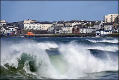 Storm Dennis. (ikerr) Tags: storm dennis portrush northern ireland stormy sea rough waves blue sky white crest