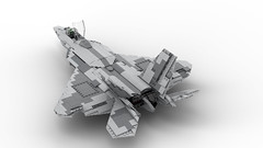LEGO Lockheed Martin F-22 RAPTOR in 1:34 Minifigure Scale (DarthDesigner) Tags: f22 lego thedarthdesigner darthdesigner lockheed martin airforce usaf raptor raptr