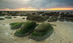 Hunstanton  Norfolk (daveknight1946) Tags: norfolk oldhunstanton storm clouds rocks boulders sand beach sea northsea