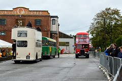 Newport Quay (PD3.) Tags: isle wight iow hants hampshire england uk great britain newport godshill quay harbour bus buses museum preserved vintage running day rally autumn sunday 12 13 october 2019 southern vectis london transport aec regent rt bristol k re open top topper topless cap229 cap 229