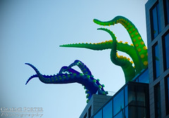 Day Of The Tentacle - IMG_4668 - Edited (406highlander) Tags: canonpowershotg1xmkii powershotg1xmkii powershot g1x aberdeen scotland tentacle inflatable art colour marischalsquare broadstreet city urban building glass modern spectra festivaloflight canon
