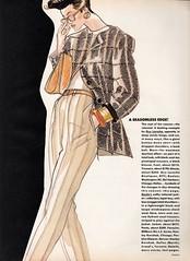 Vogue editorial illustration by Antonio Lopez 1986 (barbiescanner) Tags: antoniolopez fashionillustration vintage retro fashion vintagefashion 80s 80sfashions 1980s 1980sfashions vogue vintagevogue editorial 1986