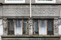 Amsterdam architecture.J.C.J. Knegt & Zonen. Insurance brokers 1925. (PeteMartin) Tags: architecture entree monument office statue amsterdam netherlands