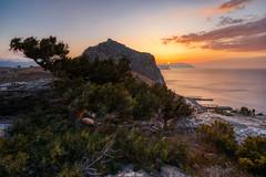 Dawn of Crimea (zaxarou77) Tags: dawn crimea russia sun sky color landscape sea three mountain sudak orange blue sony sonyclub a7 a7ii a72 markii carlzeiss 1635 1635f4 sel fe fe1635f4 ilce7m2 variotessar t mm f4 za oss sel1635z