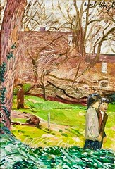 Carel Weight - Chelsea Garden (The Wright Archive) Tags: chelsea garden artist carel weight oil painting picture art london couple britishart