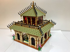 Tempel of Water and Life (jakob.escher) Tags: tempel building water lego moc afol design window