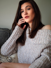 Jennifer - Leave the Past Behind (Justin Bonaparte) Tags: copyright2020byjustinbonaparteallrightsreserved model beauty lifestyle brunette sweater comfy cozy casual
