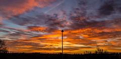 November (thepeterleigh) Tags: sunshine sunrise sky skyscape lamp post morning november leicestershire