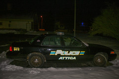The Village Of Attica, Ohio Police Department (jalohowell2) Tags: police car disbanded department small town cars law enforcement ford crown vic cvpi cops cop squad ohio attica