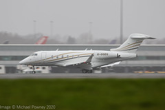 G-OOEG - 2015 build Bombardier Challenger 350, departring from Manchester during a heavy rain shower (egcc) Tags: 20733 bizjet bombardier cgoxw cl350 catreus challenger challenger350 egcc gooeg lightroom man manchester ringway vcg