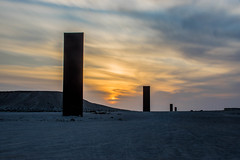 East-West / West-East (\Nicolas/) Tags: sculpture richard serra desert sunset qatar long exposure