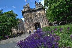 Lancaster Castle in bloom (Tony Worrall) Tags: city uk nice nw place northwest north location lancashire update dailyphoto photooftheday lancs welovethenorth greatbritain england english stream tour open britain country visit area gb british capture item attraction outside outdoors photo shoot shot sale stock captured picture buy sell caught instragram ilobsterit flowers plants building castle architecture icon bloom visitors