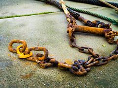 fishing net chains (1 of 1) (Shepherdsplaid) Tags: amble ocaass2 abstract coast fishingboats harbour northeast sea