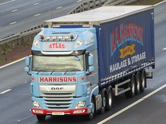 D A Harrison, DAF-XF (PX18HYC) On The A1M Southbound (Gary Chatterton 8 million Views) Tags: daharrison daftrucks dafxf px18hyc trucking wagon lorry haulage distribution logistics transport motorway flickr canonpowershotsx430 photography