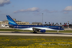 Azerbaijan Airlines Boeing 757 - 22L - Valletta - MALTA (Pittur001) Tags: azerbaijan airlines boeing 757 22l valletta malta beautiful brilliant amazing aircraft airplane international airport excellent europe european maltese charlescachiaphotography cannon 60d charles cachia photography