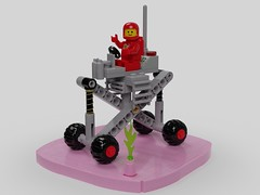 886 Suspension Prototype (David Roberts 01341) Tags: lego classicspace rover buggy toy fun mecabricks render febrovery ldd vehicle redspaceman