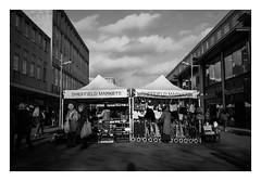 FILM - Moor Markets (fishyfish_arcade) Tags: 35mm analogphotography bw blackwhite blackandwhite canonsureshotmax delta400 filmphotography filmisnotdead istillshootfilm monochrome analogcamera compactcamera film ilford mono streetphotography market