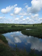 landscape (jana.moonkey) Tags: green blue landscape water sky northern nature beauty clouds