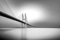 Black infinite Mind (frank_w_aus_l) Tags: lissabon bridge longexposure monochrome fineart reflection d810 nikon nikkor infinity black white bnw noiretblanc
