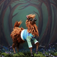 Chewy 🍂 (pure_embers) Tags: pure laura embers doll dolls england uk pureembers photography photo art cute whimsical portrait artdoll sculpture red riverroad llama chewy chewbacca sweater anthropomorphic