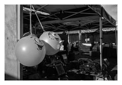 FILM - Ball bags (fishyfish_arcade) Tags: 35mm analogphotography bw blackwhite blackandwhite canonsureshotmax delta400 filmphotography filmisnotdead istillshootfilm monochrome analogcamera compactcamera film ilford mono streetphotography market