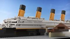 [WIP] R.M.S. - Titanic | digital render (Lego-Freak_1996) Tags: lego cobi titanic rms legotitanic rmstitanic bricks 1912 1916 southampton digital render harbour departure workinginprogress wip moc mod historical destiny brickfoxx