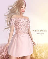 POISON ROUGE Eloise Dress (Shena Neox) Tags: dress fashion treschic cocktail blog sl exclusive original yellow pink celeste pearl event poisonrouge