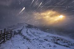 Sunrise Blizzard (John Finney) Tags: blizzard landscape sunrise highpeak climate colourimage pennines peakdistrict environment weather derbyshire nationalpark winter windchill unitedkingdom
