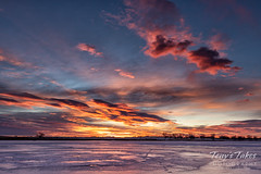 February 16, 2020 - A gorgeous sunrise across an icy lake. (Tony's Takes)