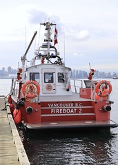 Vancouver Fireboat #2 (Bearingrrr) Tags: fireboat firerescue northvancouver vancouver harbour skyline britishcolumbia