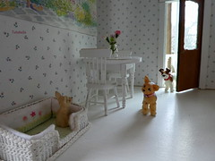 Wanna come out and play?? (TutuBella) Tags: daisydayes dogs puppies roz eddie friendly pups beautifuldogbedby~madebybarbara barbaragehring dollhouse
