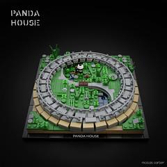 PANDA HOUSE (carlierti.lego) Tags: lego panda microscale big archi architecture zoo copenhagen bjarke ingels
