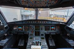 Airbus A321 flightdeck (Angus Duncan) Tags: airbus a321 airbusa321 edi edinburgh edinburghairport airport britishairways ba cockpit flight flightdeck aircraft airplane plane avion canon6d canon controls pilot pilots travel