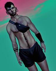 Colours. (Ziro Nayar) Tags: sl slmodel slpics secondlife lelutka legacy black dragon