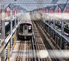 Brooklyn Bound (PAJ880) Tags: j train brooklyn bound williamsburg bridge tracks structure mta nyc new york city east river span