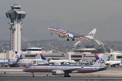 2009_10_02 KLAX stock-14 (photoJDL) Tags: 737 737800 757 757200 americanairlines americanairlines737800 americanairlines757200 boeing737 boeing757 jdlmultimedia jeremydwyerlindgren klax lax losangelesinternationalairport n689aa n971an aircraft airline airplane airport aviation